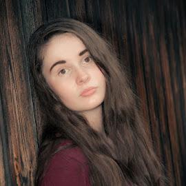 Serious Girl by Chris Cavallo - People Portraits of Women ( senior portrait, maine, autumn, fall, teens, portrait )