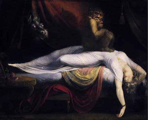 Pintura donde se representan los terrores nocturnos