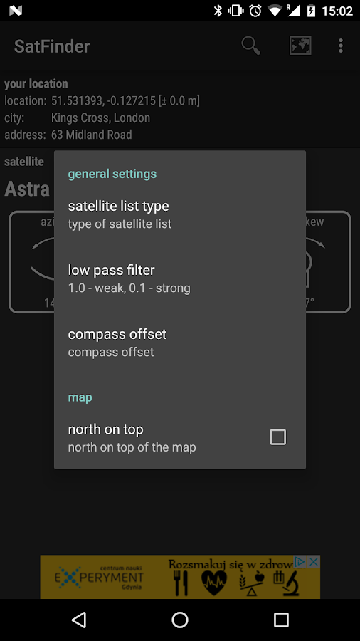 SatFinder- screenshot