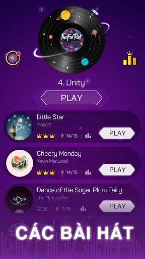 Nhiều bài hát hấp dẫn trong game
