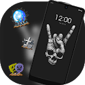 Abstract theme Rock Skull Graffiti icon