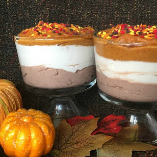 Layered Pumpkin Marshmallow Chocolate Mousse