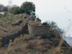 Photo: This tower, (originally much higher) was not built on a foundation and collapsed during the attack when three Roman soldiers reached it undetected and undermined the base of it.