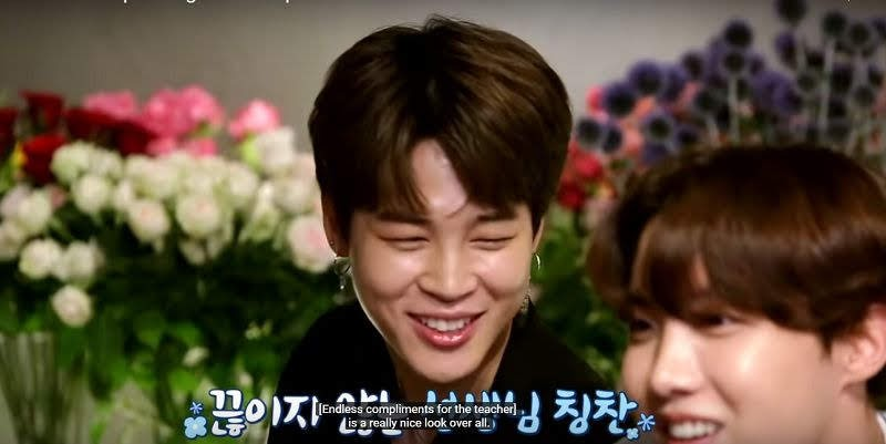BTS Jimin Complimenting Handsome florist Teacher Run BTS Episode 99