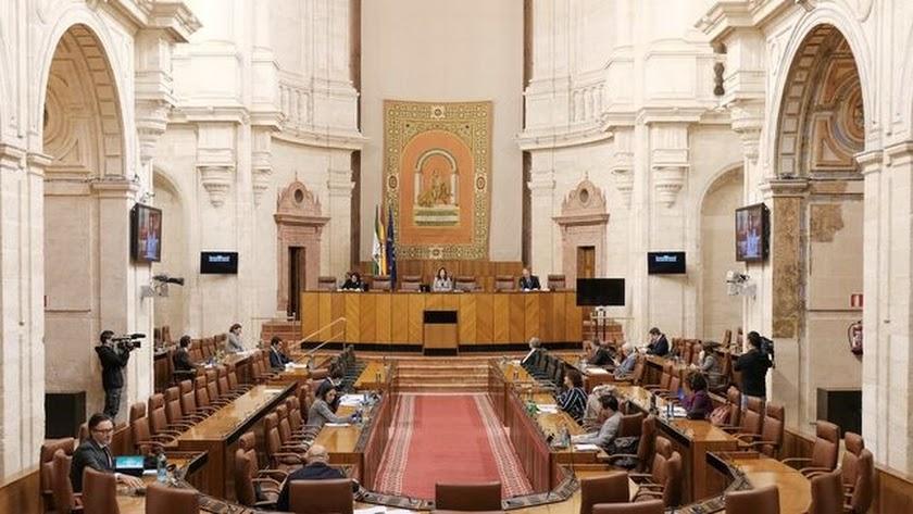Foto de archivo del Parlamento de Andalucía antes de que se suspendieran las sesiones.