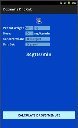 Paramedic Dopamine Calculator