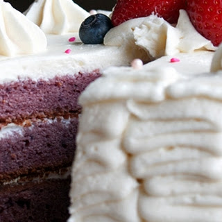 Berry Pound Cake w/ White Chocolate Buttercream