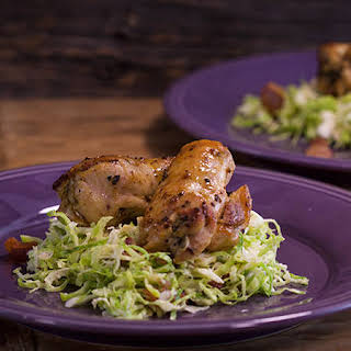 Garlic and Sage Chicken Thighs and Brussels Sprout Salad.