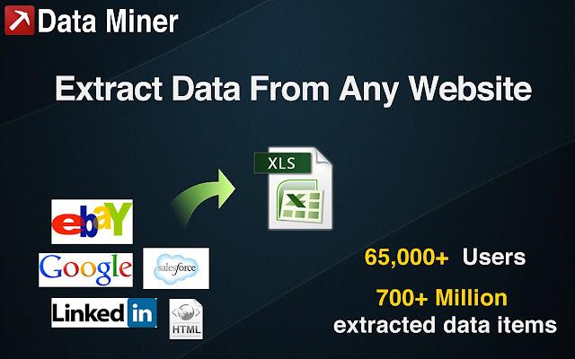 Data Scraper chrome extension