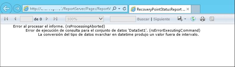 Error al procesar informe. (rsProcessingAborted)