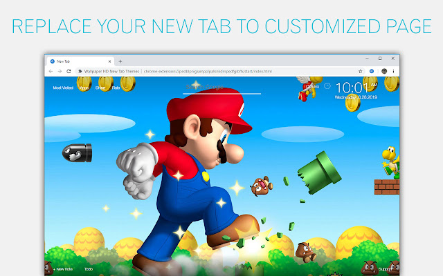 Super Mario Bros Wallpaper HD Custom New Tab