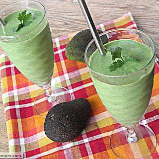 Naturally Sweetened Green Protein Smoothie.