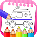 vehicles coloring book & drawing book - kids Game download