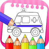vehicles coloring book & drawing book Mod