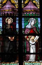 Photo: Saint Camille de Lellis et sainte Anne apprennent à lire à Marie (chapelle N-D de Tongre)