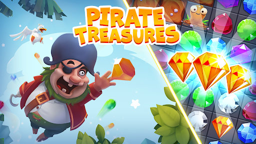 Pirate Treasures - Gems Puzzle game (apk) free download for Android/PC/Windows screenshot