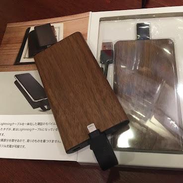 全新木質地 直出iPhone 線充電器(深木)