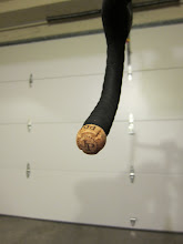 Photo: Step 3: Plug cork into bar-end, make sure it fits tightly. A little encouragement with a hammer is OK.