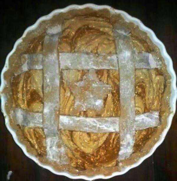 Then if you are adding a lattice, apply. Optionally coat lattice with egg white...
