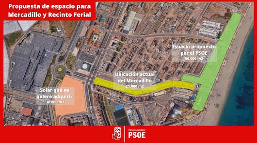El PSOE pide acondicionar el Mercadillo en Las Salinas de Roquetas