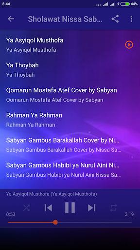 Sholawat Nissa Sabyan Lengkap Offline 1.0 screenshots 2
