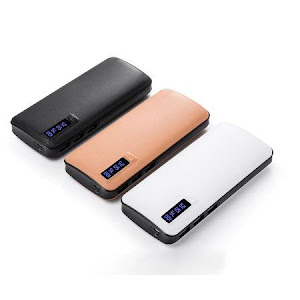 Baterie Externa Smart Power Bank 10000 mAh, 3 x USB, Design Piele
