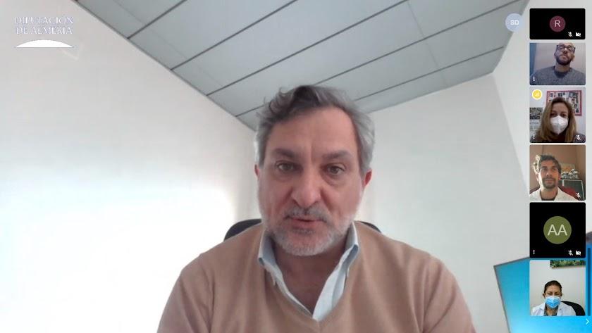 Ángel Escobar durante la presentación virtual del Plan.