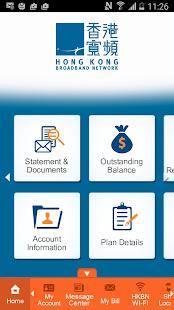 HKBN My Account App - náhled
