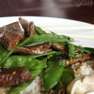 Beef and Snow Peas.