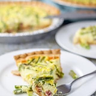 Ham and Asparagus Quiche.