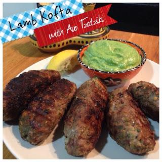 Lamb Kafta with Avocado Tzatziki