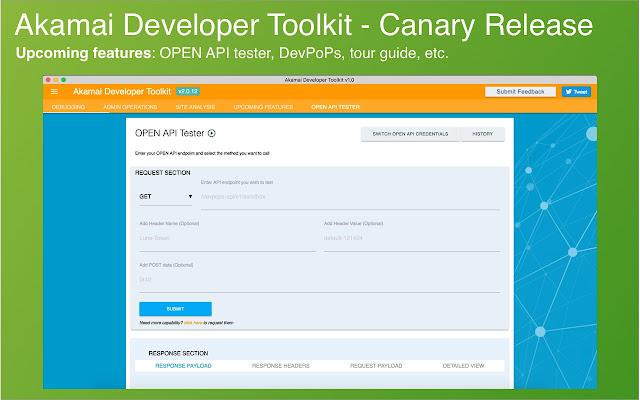 Akamai Developer Toolkit - CANARY