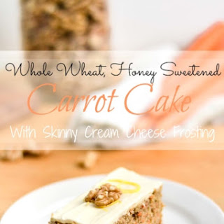 Whole Wheat Carrot Cake with Skinny Cream Cheese Frosting.