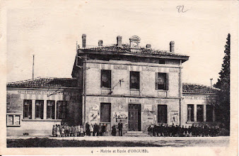 Photo: Orgueil - Mairie et École - Fin des années 1920 - Carte écrite le 19/09/1934