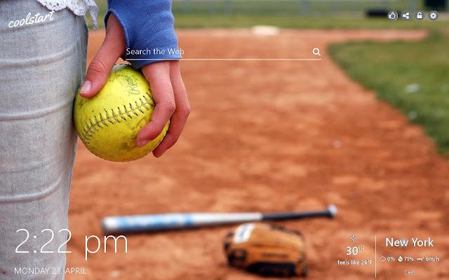 Softball HD Wallpapers Sport New Tab Theme