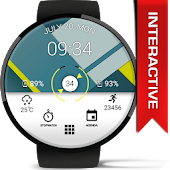Material Interactive WatchFace