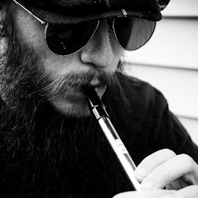 Tin Whistle by Brittany Humphrey - People Musicians & Entertainers ( musician, men, irish, tin, man, whistle, entertainer, portrait )