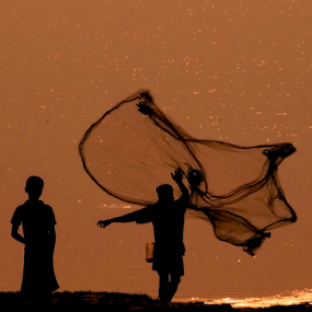 The Fisherman..... by Gautam Tarafder - People Professional People (  )