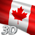 Canada Flag Live Wallpaper 3D icon
