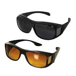 Set 2 perechi ochelari pentru condus de zi - noapte HD Vision