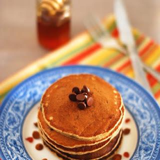 Eggless Banana Oats Choco Chip Pancake