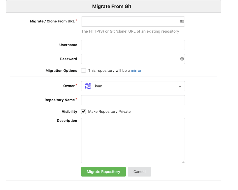 Migrate from Git