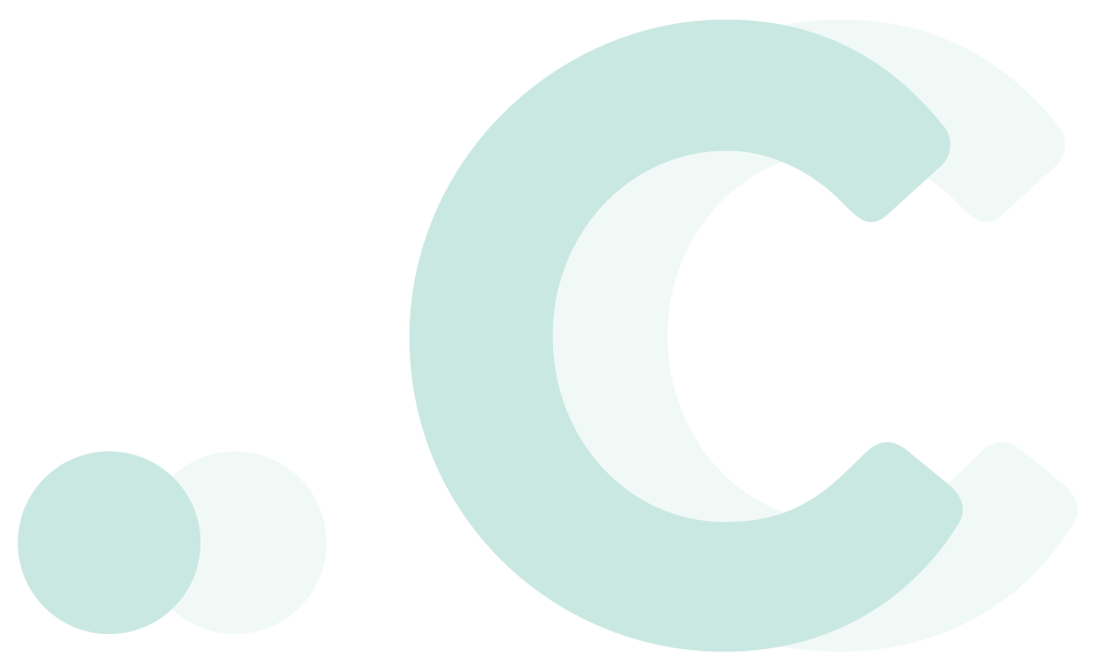 Logo for .c TLD (Teal)