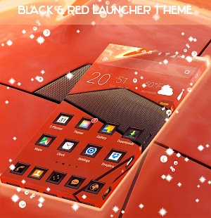 Black & Red Launcher Theme - náhled