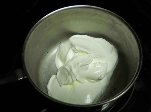 For topping:  In sauce pan, combine all ingredients for the topping. Whisk together and heat...