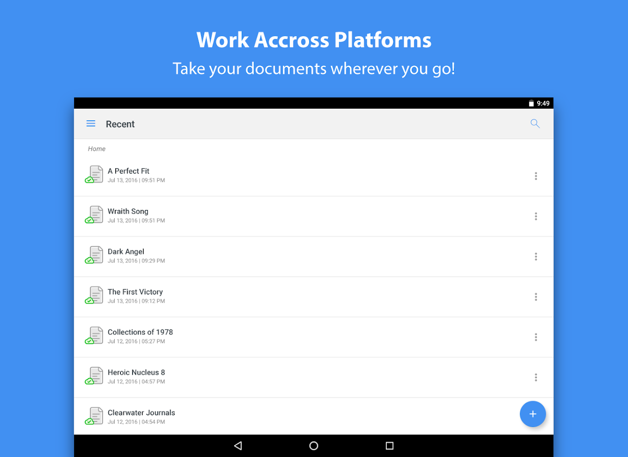 Zoho Writer: Document Creation- screenshot