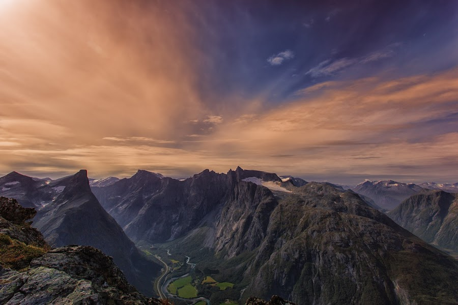 Romsdelseggen hike  by Luca Febbraio - Landscapes Mountains & Hills ( andalsen, mountain, nature, romsdalseggen, hike, norway )