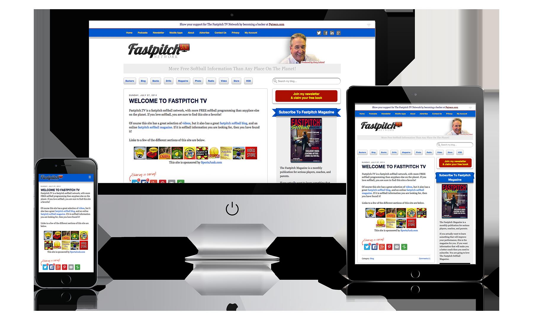 FastpitchTV Website Mockup