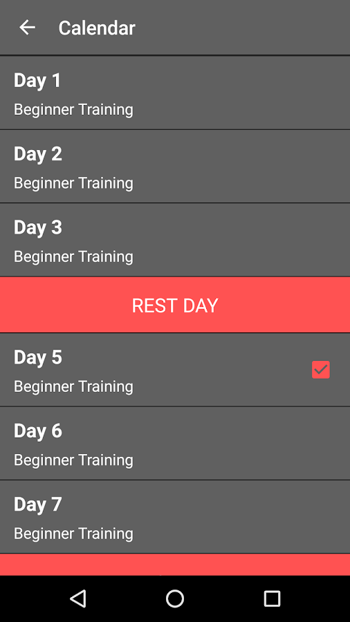 Workout Calendar App : Day abs workout challenge android apps on google play