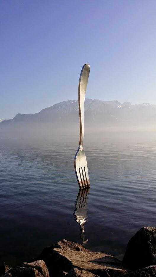 Fourchette à Vevey